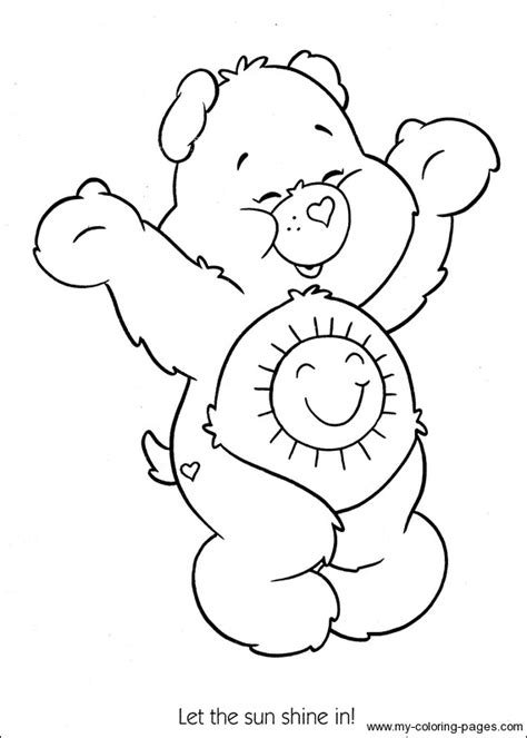 coloring pages care bears printing care bears sunshine bear coloring printable page