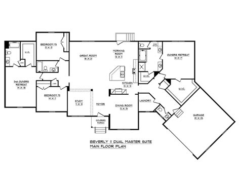 dual master suite floor plans 27 top photos ideas for dual master suite house plans