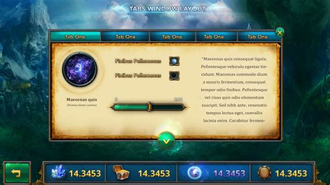 layout game html fantasy mobile game ui template