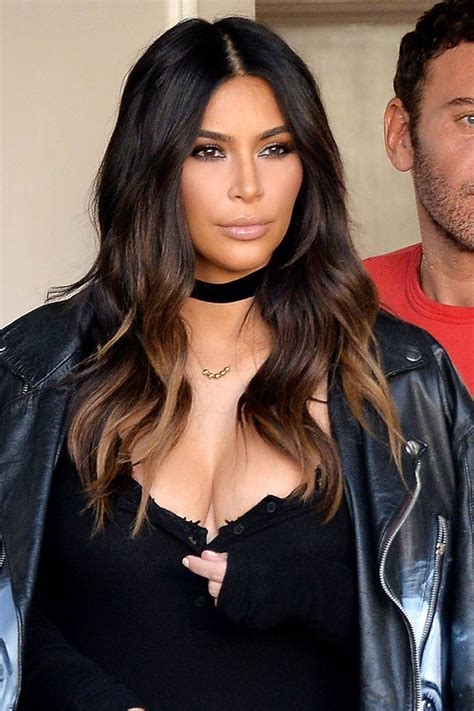 kim kardashian hair color highlights 25 best ideas about dark hair on pinterest long dark