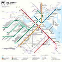 Boston Mta Map by Boston Rapid Transit Map On Behance