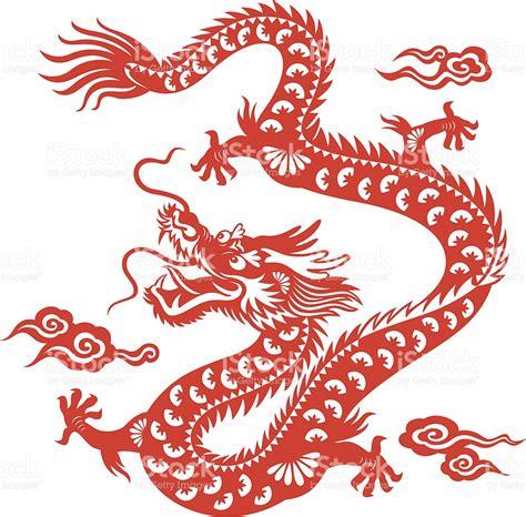 chinese dragon papercut art stock vector art 167590204