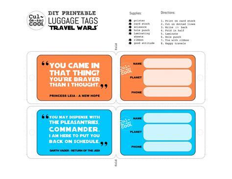 printable luggage tags pinterest diy printable luggage tags travel wars plethora of