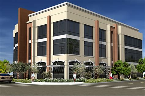 three story building mep design for medical office building