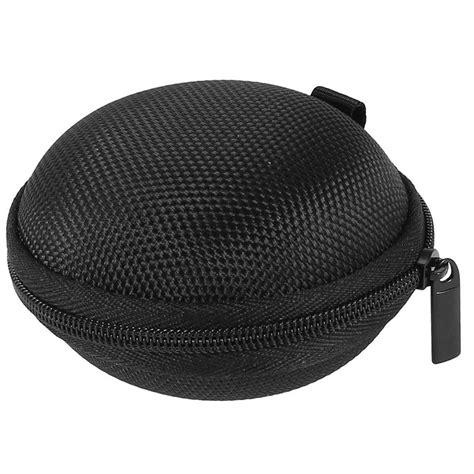 Promo Shape Storage Carrying Bag For Earphones Black tas earphone bentuk bulat black jakartanotebook