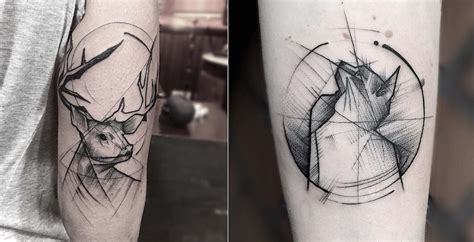 tattoo geometric lines superb tattoos with geometric lines10 fubiz media