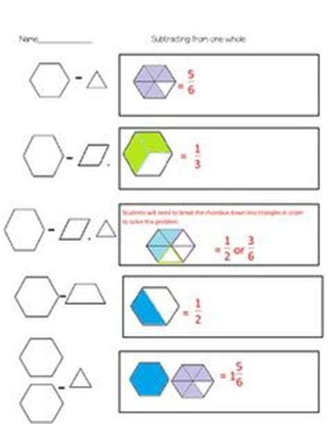 equivalent fractions pattern blocks worksheet pattern block fraction worksheets bluegreenish