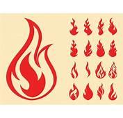 Fire Symbols Set Vector  AI PDF Free Graphics Download