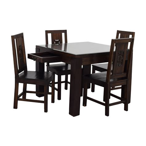 Set Dining Table 90 Balinese Teak Dining Table Set Tables
