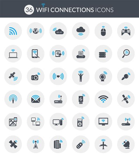 Wifi Connection vector wi fi connection icons