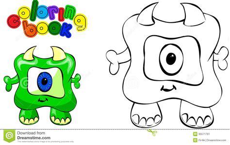 Monstre De Livre De Coloriage Illustration De Vecteur The Coloring Book L