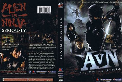 film alien vs ninja 2010 alien vs ninja movie dvd scanned covers alien vs