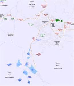 map of mammoth lakes california
