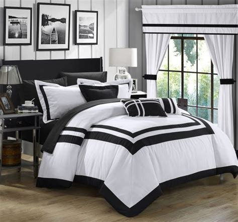 20 piece comforter set king elegant black and white bedroom ideas luxcomfybedding