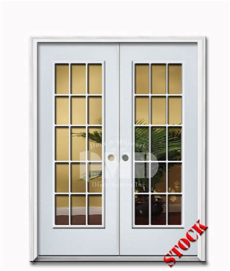 15 Lite Clear Glass Steel Exterior Double Door 6 8 Door 15 Lite Exterior Door