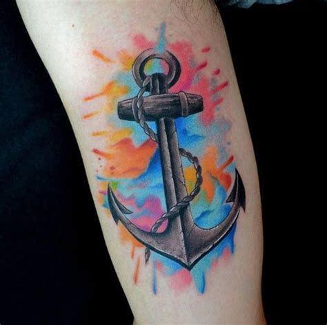 the 25 best ideas about watercolor anchor tattoo on