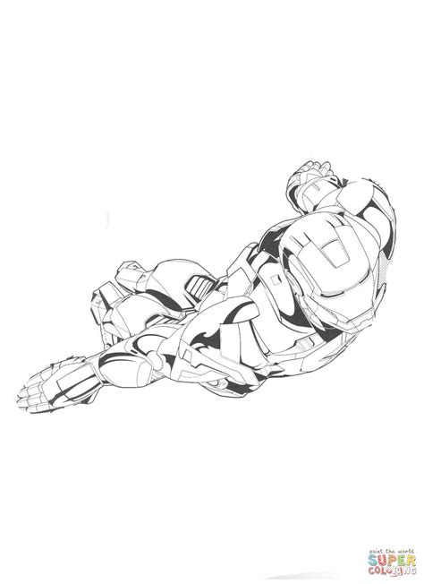 Iron Man Flying Coloring Pages | flying iron man coloring page free printable coloring pages