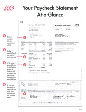 Adp Earning Statement Template adp pay stubs fill printable fillable blank