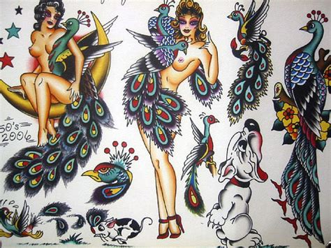 free tattoo flash art styles vintage flash