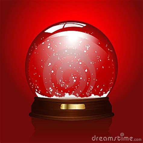 empty snowglobe  red stock  image