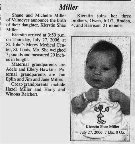 Finland Birth Records Birth Announcements In Newspapers Birth Announcements Templates