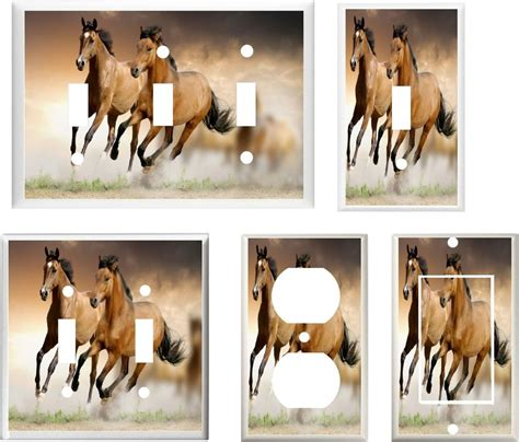 home interior horse pictures ebay horses running free image 25 home decor light switch