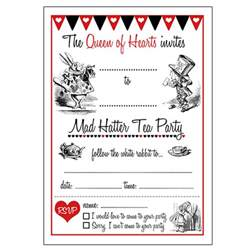 12 cool mad hatter tea invitations baby