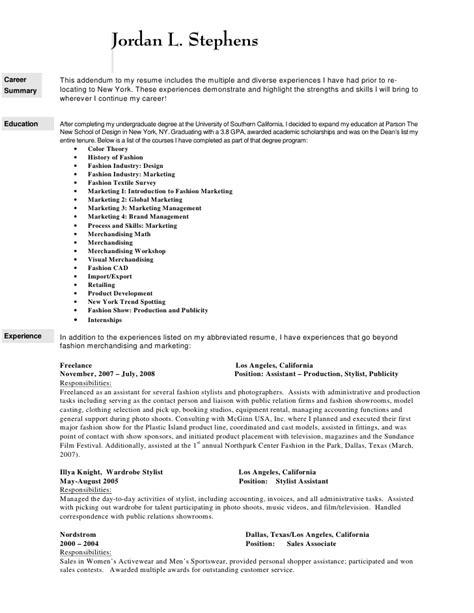 fashion pr resume resume ideas