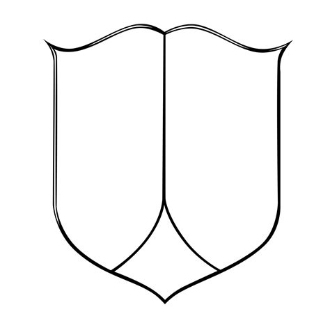 shield outline template coat of arms template with banner clipart best