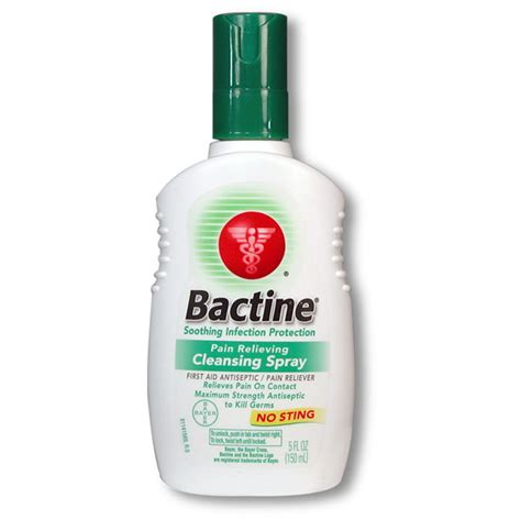 bactine anesthetic amp antiseptic spray 5oz bottle