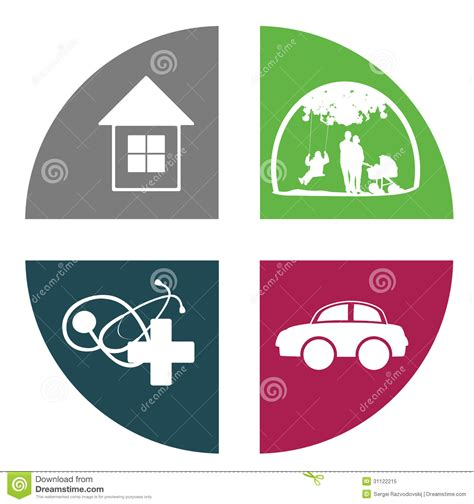 healing house insurance icon royalty free stock photo image 31122215