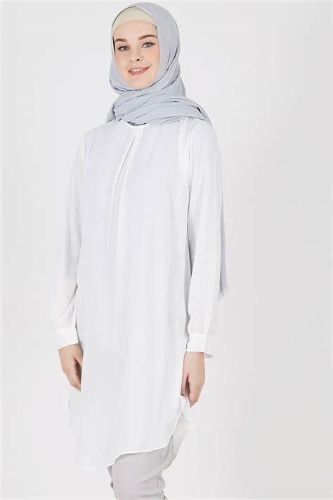 Baju Wanita Atasan Pakaian Moschino Bag Tunik Tunic Blouse Muslim sell sleeve tunic tania white tops hijabenka