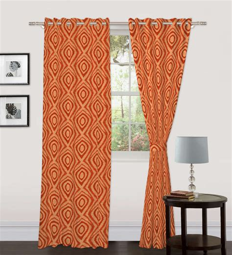Geometric Pattern Curtains Skipper Geometric Pattern Window Curtain 5 Ft By Skipper Window Curtains