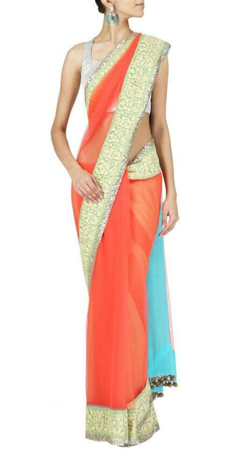 plain saree with border indian bridal clothes jwellary n look pi