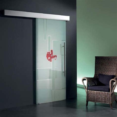 porta in vetro scorrevole porta scorrevole vetro astratto dipinto a mano mdbportas