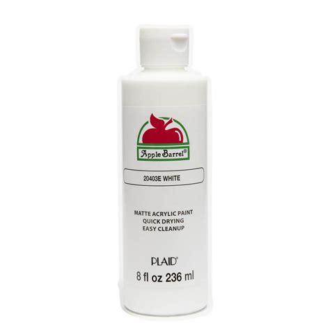 apple barrel paint colors apple barrel colors 8 oz white acrylic paint j20403 the
