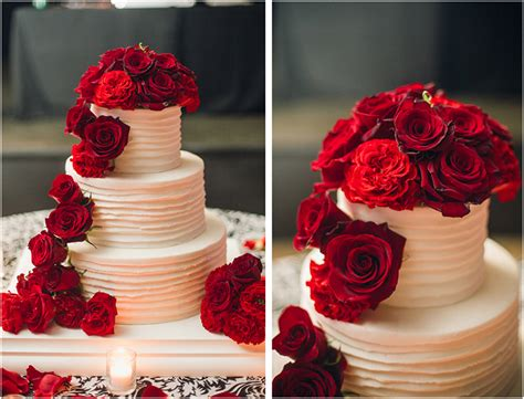 Black Wedding Cake Flowers by Classic Fall Wedding Black And White With Crimson