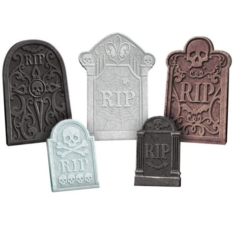 Tombstone Decorations by Tombstone Decoration Set 5ct Treat