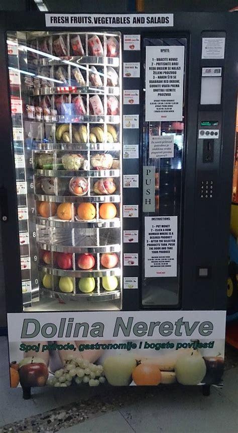 fruit vending machine photo zagreb s central station gets fresh