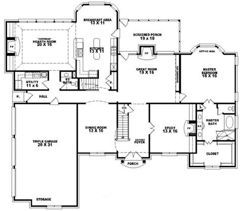 5 bedroom house plans with bonus room 653617 2 story traditional home with 4 bedrooms and a bonus room house plans floor