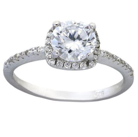 halo 1 5 carat cubic zirconia engagement ring in