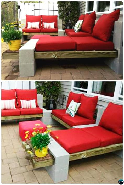 Diy Outdoor Cinder Block Lounge 10 Diy Concrete Block Cinder Block Patio Furniture