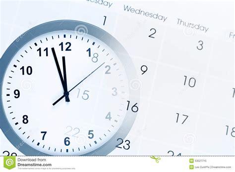 Faced Calendar by Clock And Calendar Stock Photo Image 53527715