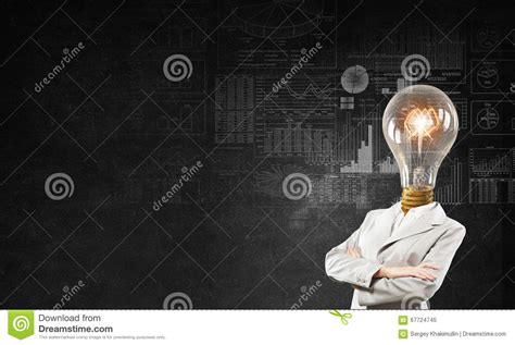 full of great ideas how her head full of great ideas stock image image 67724745