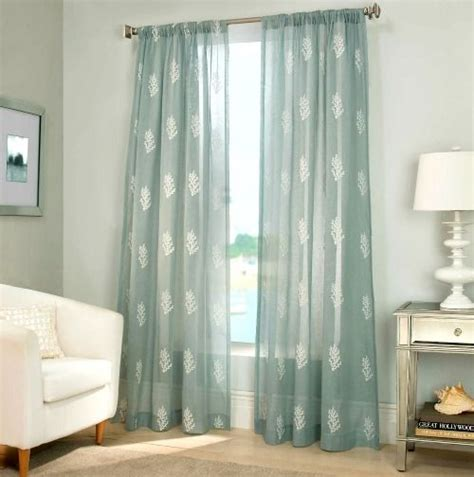 nautical sheer curtains coastal coral reef sheer curtains http www completely