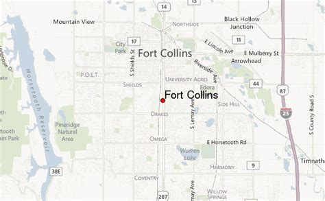 map of fort collins colorado fort collins location guide