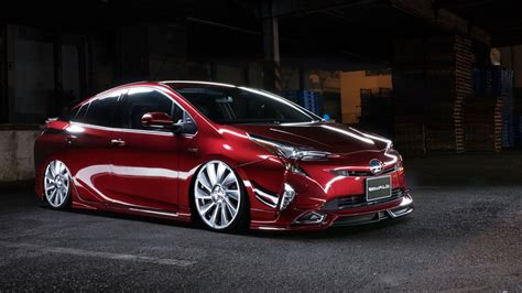 toyota international toyota prius converted to lowrider by wald international