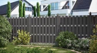 terrasse zaun kunststoff sichtschutzzaun holz anthrazit bvrao