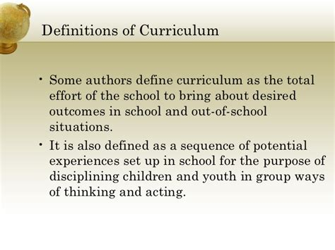theme curriculum definition curriculum development
