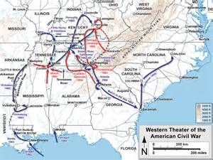 civil war in map map the civil war in the west